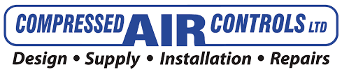 Compressed Air Controls' logo and design, supply, install and repair tagline